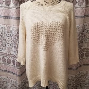 Lane Bryant cream sweater
